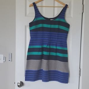 Fit and Flair Navy Striped Dress